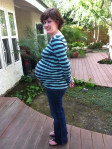 Pregnant me the day before Madeleine was born