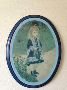 "Renoir's ""A Girl with a Watering Can"" that was on my bedroom wall growing up"