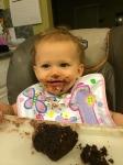 She enjoyed her chocolate cupcake!