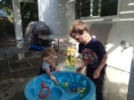 Having fun with the water table