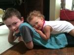 Snuggling with Benjamin