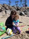 At the beach with Mommy
