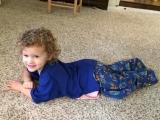 Wearing big brother's pajamas